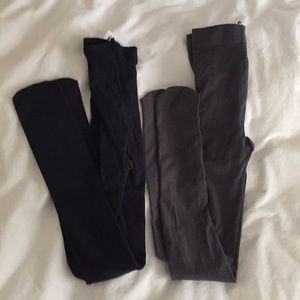 New Lands End Tights in Grey and Navy